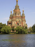 Peter and Paul Church Seen from Tsarina Pavilion, Peterhof, St. Petersburg, Russia Photographic Print by G Richardson