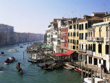 View Along the Grand Canal from Rialto Bridge, Venice, Unesco World Heritage Site, Veneto, Italy Photographic Print by Lee Frost