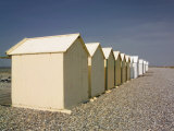 Beach Huts, Cayeux Sur Mer, Picardy, France Photographic Print by David Hughes