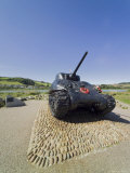 Tank Commemorating D-Day Rehearsals, Slapton Sands, Slapton Ley, South Hams, Devon, England Photographic Print by David Hughes