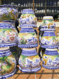 Ceramic Pots for Sale, Valencia, Spain Photographic Print by G Richardson