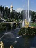 Fountains, Petrodvorets (Peterhof), St. Petersburg, Russia Photographic Print by G Richardson