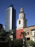 San Francisco Church and Modern Office, Santiago, Chile, South America Photographic Print by G Richardson