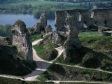 Chateau Gaillard and the River Seine, Eure, Normandy, France Photographic Print by David Hughes