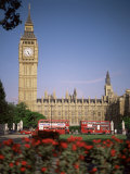 Houses of Parliament, Unesco World Heritage Site, and Parliament Square, London Photographic Print by G Richardson