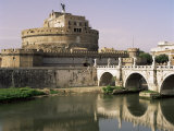 Castel San Angelo and River Tiber, Rome, Lazio, Italy Photographic Print by G Richardson