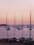 Sunset Over Boats, Tregastel, Cote De Granit Rose, Cotes d'Armor, Brittany, France Photographic Print by David Hughes