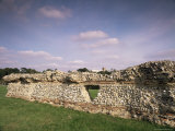 Wall, Remains of Roman Town of Verulamium, St. Albans, Hertfordshire, England Photographic Print by David Hughes