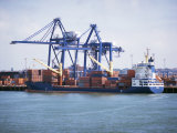 Container Port, Felixstowe, Suffolk, England, United Kingdom Photographic Print by G Richardson