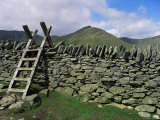 Ladder Stile Over Dry Stone Wall, Cumbria, England, United Kingdom Photographic Print by Lee Frost