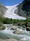 Briksdal Glacier, Sogn and Fjordane, Norway, Scandinavia Photographic Print by G Richardson