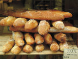 Baguettes in the Window of the Paul Bread Shop, Lille, Flanders, Nord, France Photographic Print by David Hughes
