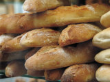 Bread and Baguettes in Boulangerie in Town Centre, Lille, Flanders, Nord, France Photographic Print by David Hughes