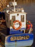 Fishing Boat in Port at Coastal Resort of Trebeurden, Cotes d'Armor, France Photographic Print by David Hughes