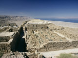 View North to Ruins of Northern Palace from Store Rooms Lookout, Masada National Park, Dead Sea Photographic Print by Julian Pottage