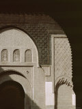 Mouldings Over Arched Doorway, Ben Youssef Medersa, Marrakech (Marrakesh), North Africa Photographic Print by David Poole