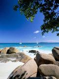 Beach, Anse Lazio, Island of Praslin, Seychelles, Indian Ocean, Africa Photographic Print by Lee Frost