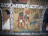 Wall Painting in the Tomb of Sinjin, Chief Artist to Ramses II, Deir El Medina, Thebes Photographic Print by Jack Jackson