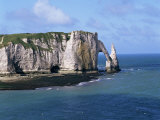 Falaises (Cliffs) and Rocks Near Etretat, Cote d'Albatre, Haute Normandie, France Photographic Print by Hans Peter Merten