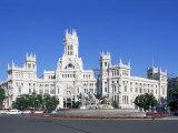Palacio De Comunicaciones, Plaza De La Cibeles, Madrid, Spain Photographic Print by Hans Peter Merten