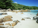 Beach, Anse Lazio, Praslin Island, Seychelles, Indian Ocean, Africa Photographic Print by Lee Frost