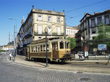 Tram in the Old Town, Porto (Oporto), Portugal Photographic Print by Hans Peter Merten