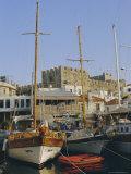 Yacht Marina and Castle, Marmaris, Aegean Coast, Anatolia, Turkey Photographic Print by Christopher Rennie