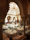 Interior View of Moroccan Restaurant, La Mamounia Hotel, Marrakech, Morocco, North Africa Photographic Print by Lee Frost