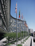 Flags of Eu Member Countries, Brussels, Belgium Photographic Print by Julian Pottage