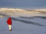 View Over Frozen Lake Furusjoen, Rondablikk, Norrway, Scandinavia Photographic Print by David Poole
