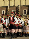 Harvest Festival Celebrations in Rynek Glowny Square, Krakow, Poland Photographic Print by Christopher Rennie