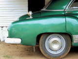 Detail of Old American Car, Vinales Valley, Pinar Del Rio Province, Cuba Photographic Print by Lee Frost