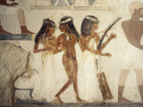 Wall Paintings of Female Musicians in the Tomb of Nakht Photographic Print by Jack Jackson