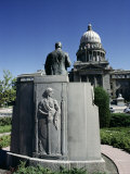 W. A. Coughanor Monument Outside Idaho Capitol, Boise, Idaho, USA Photographic Print by Julian Pottage