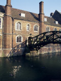 Mathematical Bridge, Queens&#39; College, Cambridge, Cambridgeshire, England, United Kingdom Photographic Print by Michael Jenner