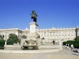 Plaza De Oriente and Palacio Real, Madrid, Spain Photographic Print by Hans Peter Merten