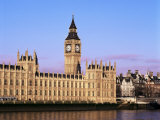 Houses of Parliament and Big Ben, Westminster, London, England, United Kingdom Photographic Print by Hans Peter Merten