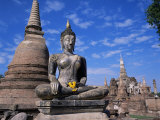 Wat Mahathat, Sukhothai, Unesco World Heritage Site, Thailand, Southeast Asia Photographic Print by Christopher Rennie