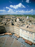 View Over Rooftops from the Torre Mangia in Piazza Del Campo, Siena, Tuscany, Italy Photographie par Lee Frost