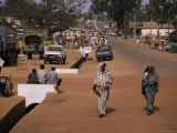 Street Scene in Centre of Town, Garowa, Cameroon, Africa Photographic Print by David Poole