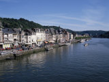 Old Town, Dinant, and River Meuse, Ardennes, Belgium Photographic Print by Hans Peter Merten