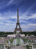 Trocadero and the Eiffel Tower, Paris, France Photographic Print by Hans Peter Merten