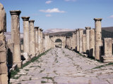 Main Street and Arch from the Capitol, Roman Site of Djemila, UNESCO World Heritage Site, Algeria, Photographic Print