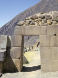 Trapezoidal Door, Inca Fortress, Ollantaytambo, Peru, South America Photographic Print by Christopher Rennie