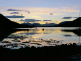 Loch Leven at Sunset, Glencoe Village, Highland Region, Scotland, United Kingdom Photographic Print by Lee Frost
