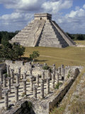 One Thousand Mayan Columns and the Great Pyramid El Castillo, Chichen Itza, Mexico Photographic Print by Christopher Rennie