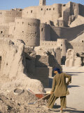 Restoration Work, Arg-E Bam, Bam, Unesco World Heritage Site, Iran, Middle East Photographic Print by David Poole