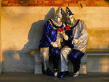Couple Dressed in Masks and Costumes Taking Part in Venice Carnival, Venice, Veneto, Italy Photographic Print by Lee Frost