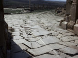 Chariot Wheel Ruts by the West Gate, Roman Site of Timgad, Unesco World Heritage Site, Algeria Photographic Print by Jack Jackson