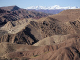 Mountains and Village Near Telouet, High Atlas Mountains, Morocco, North Africa, Africa Photographic Print by David Poole